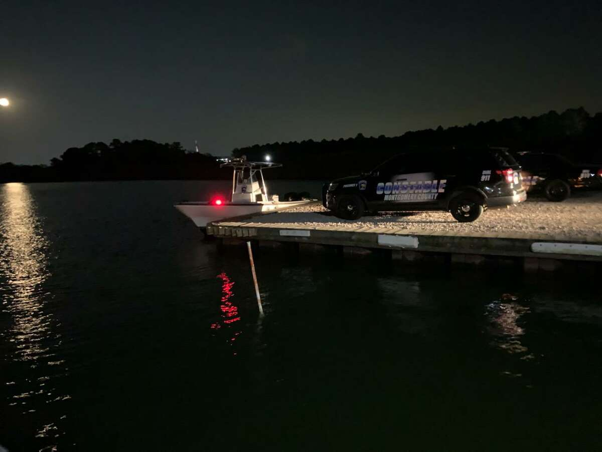 First responders are seen at the recovery site of a man who on Tuesday, Aug. 4 drowned on Lake Conroe in the Walden subdivision.