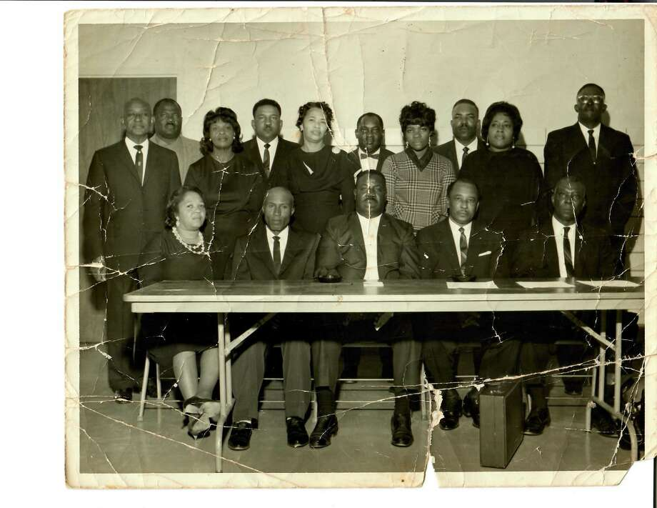 The late Rosella Mae Scott, fourth from the right, was one of the founders of the first branch of NAACP in Galveston County. Scott later became a longtime Dickinson ISD trustee. Photo: Courtesy