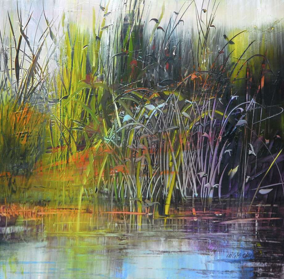 """""""Grasses in the Marsh"""" by Gail Ingis is one of the pieces featured in the Madison Art Society's online show. Photo: Contributed Photo /"""