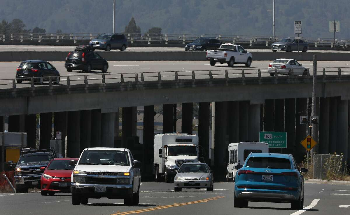 Under 101 Freeway on Tuesday, Aug. 4, 2020, in Mill Valley, Calif.