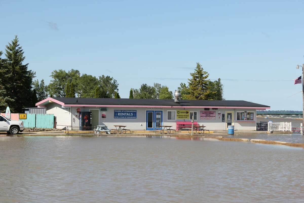 Days of heavy rain have left the beach at Caseville County Park flooded. The flooding comes as the United States Army Corps of Engineers Detroit Office said that Lake Huron's water levels reached their peak for the year.