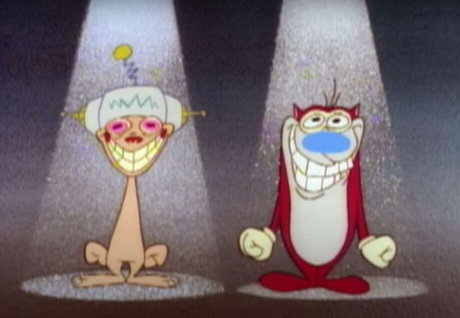 That's right! It's the Happy Happy Joy Joy song! Ren and Stimpy are returning/ Photo: Video Screenshot By Gael Fashingbauer Cooper/CNET