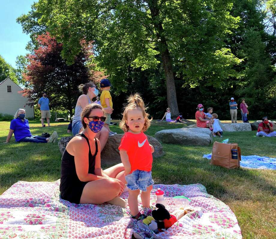 KidsPlay Children's Museumhas partnered with the Litchfield HistoricalSociety to present Bilingual Stories in the Meadow. These story times in English and Spanish by volunteers Humphry Rolleston and Carmen Neale will continue at 10 a.m. Aug. 12 and Aug. 19. Photo: Contributed Photo