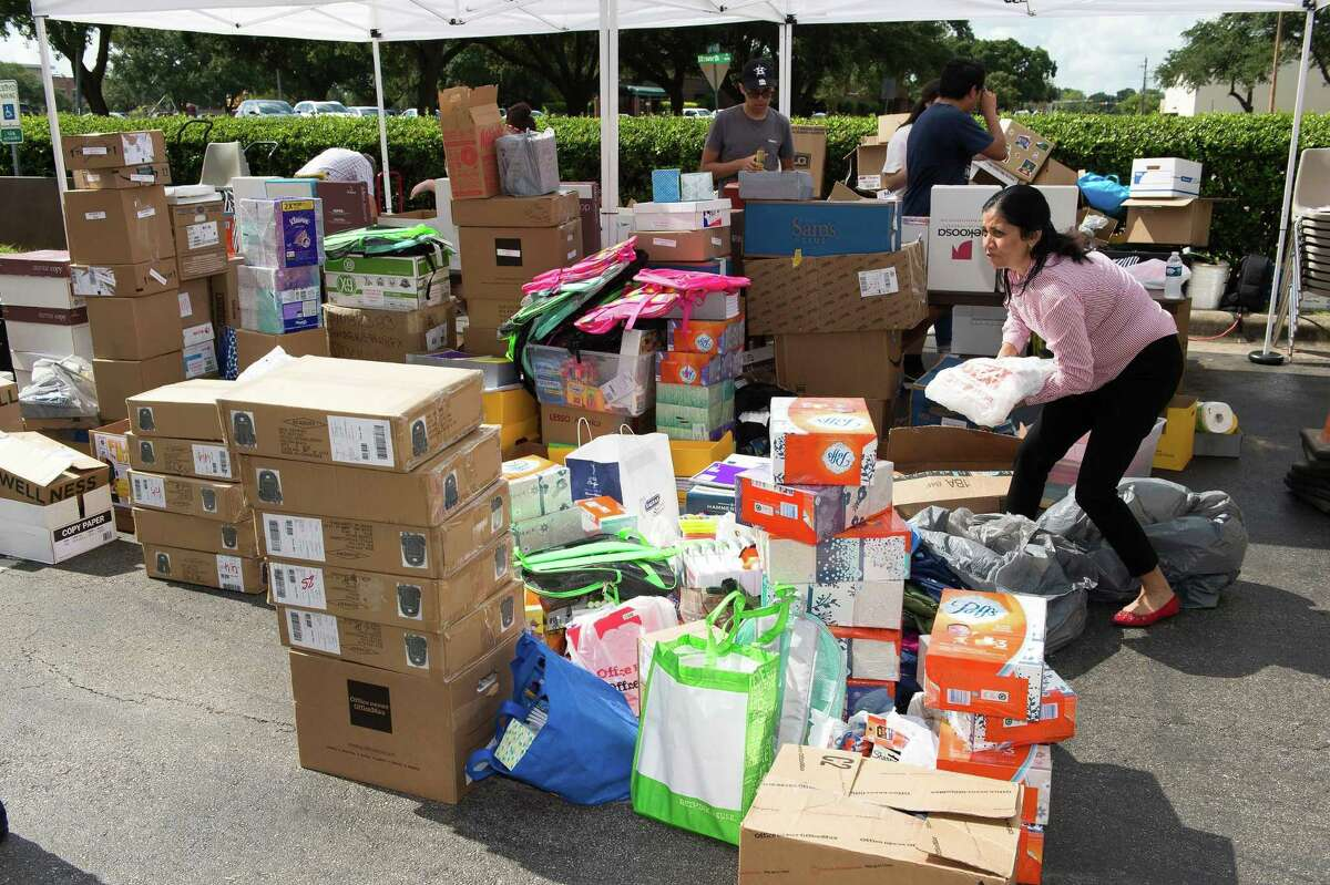 A previous Fill the Bus drive in Pasadena ISD resulted in mountains of donations to give district teachers. This year's drive will have a collection day on Aug. 10at Pasadena Convention Center, 7902 Fairmont Parkway.