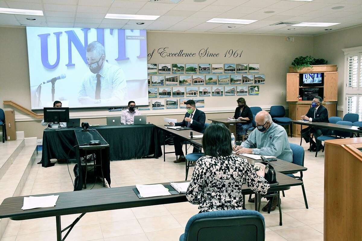 United ISD Superintendent Roberto J. Santos, administrators and staff participated in a special called meeting at the UISD Boardroom, Tuesday, August 4, 2020.