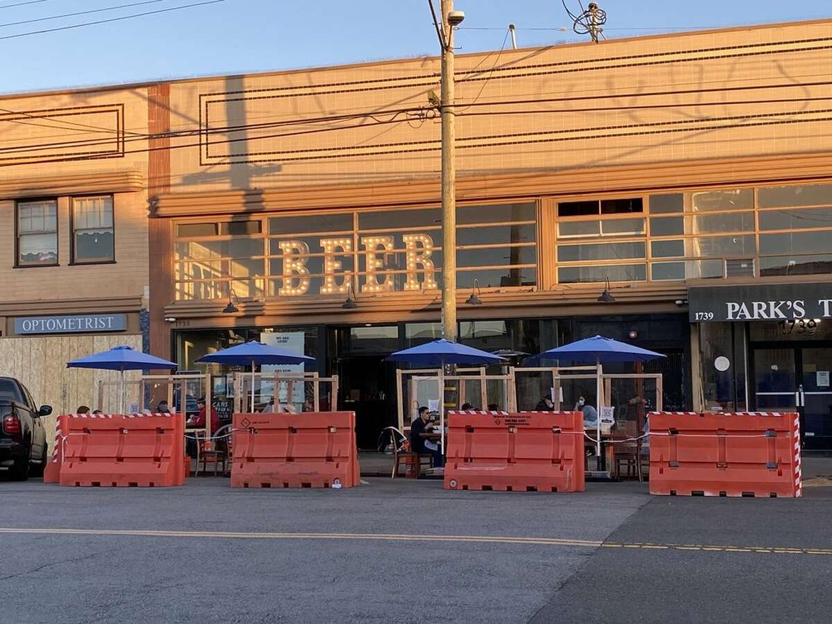Sunset Reservoir Brewing, Devil's Teeth's sister restaurant on 1735 Noriega St., San Francisco, offers socially distant outdoor dining.