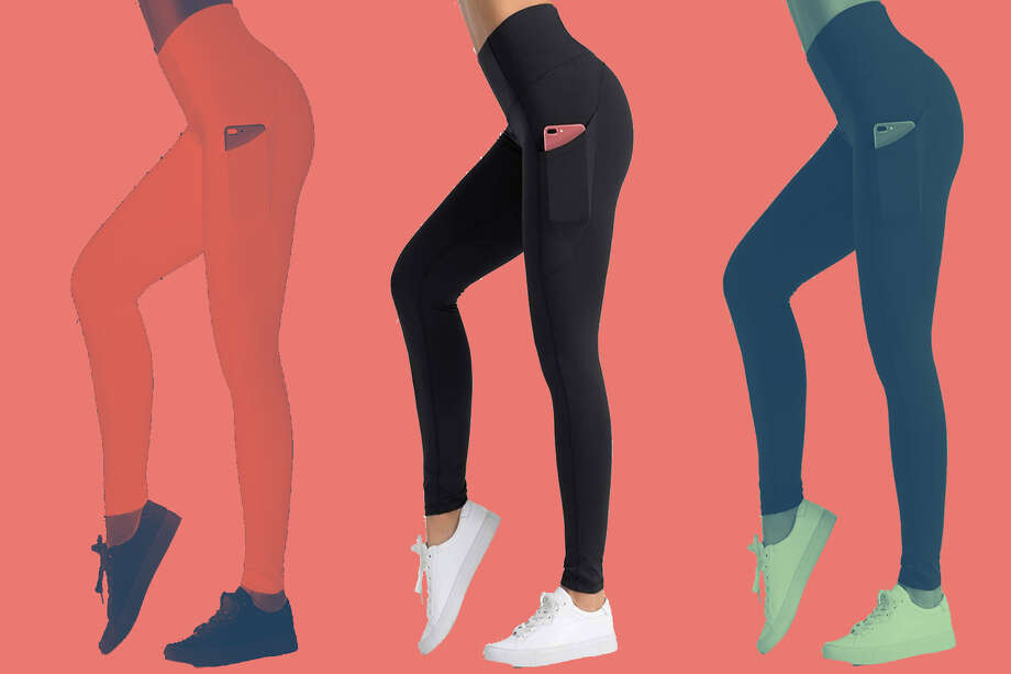 Dragon Fit High Waist Yoga Leggings with 3 Pockets, Starting at $21.98 on Amazon Photo: Amazon/Hearst Newspapers