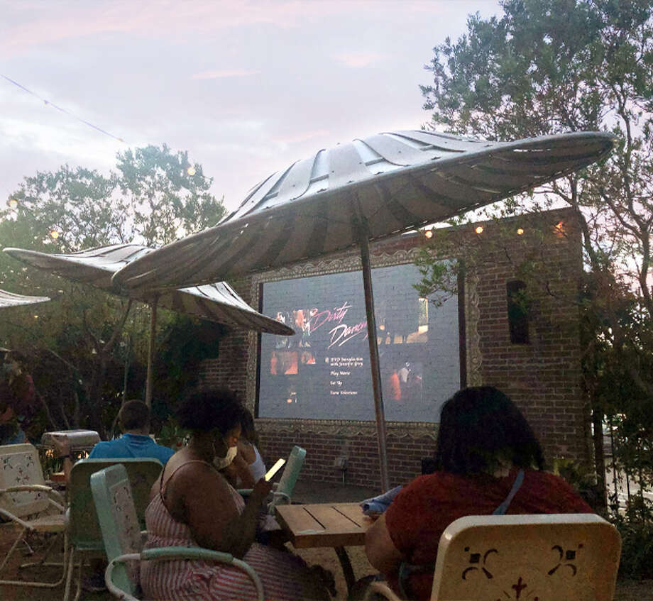 Ida Claire San Antonio, a popular Southern food brunch spot at the Alamo Quarry Market, will host an outdoor movie night on its patio every Thursday for the rest of the year. Photo: Ida Claire