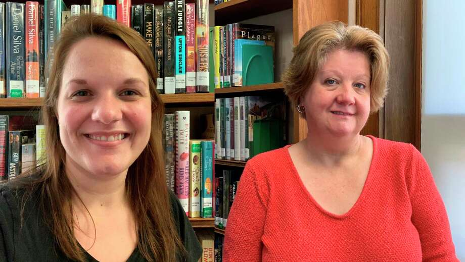 Meet Becca Brown and Kim Jankowiak. Both are with the Manistee County Library and are the voices behind the new On the Same Page feature that shares new titles and cool finds patrons can look forward to reading, listening to or watching from the library's collections. (Courtesy photo)