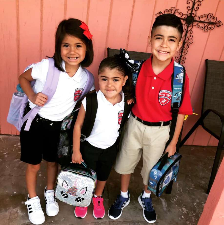 Reader submitted photos of their kids first day of school at Sam Houston Collegiate Preparatory Elementary. Photo: Viviana Catano