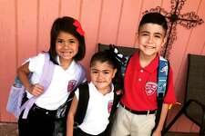Reader submitted photos of their kids first day of school at Sam Houston Collegiate Preparatory Elementary.
