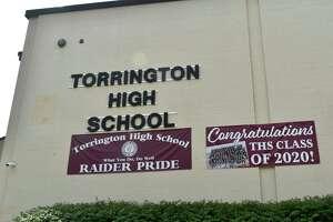 Signs celebrating Torrington High School's class of 2020.