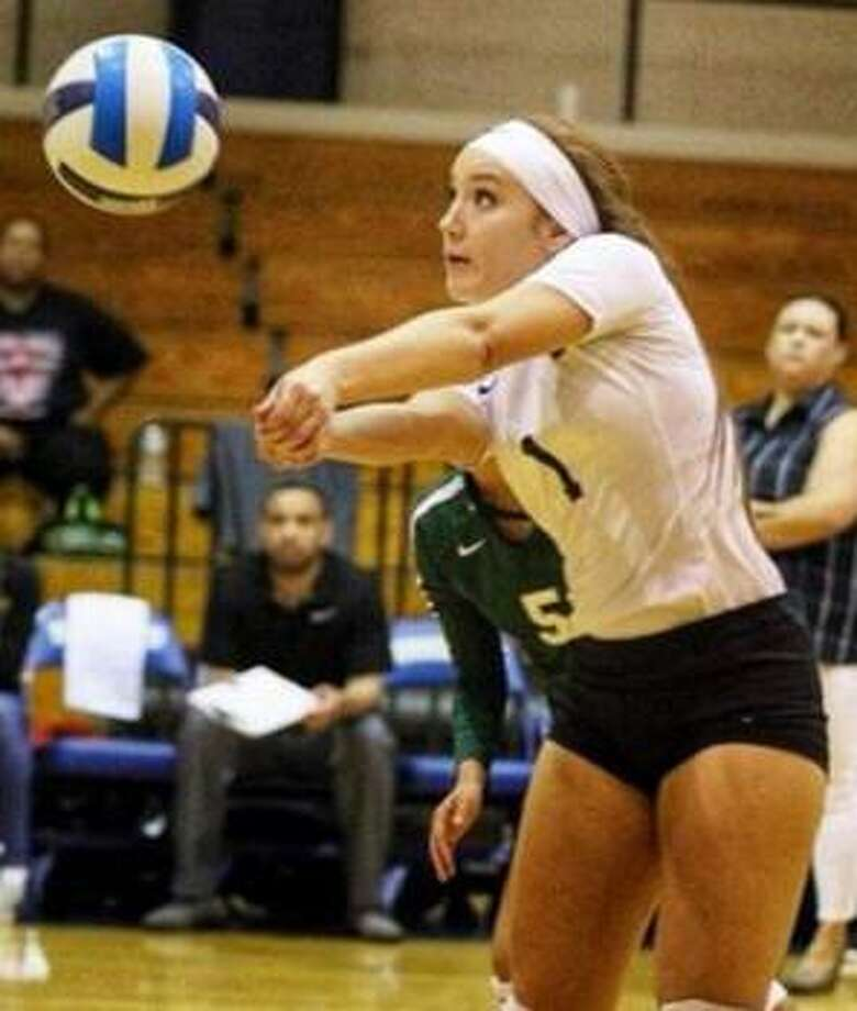 Regina Tijerina was named the co-Libero of the Year for NJCAA Region XIV in 2019 while competing at Laredo College. Photo: Courtesy Of TAMIU Athletics
