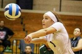 Regina Tijerina was named the co-Libero of the Year for NJCAA Region XIV in 2019 while competing at Laredo College.