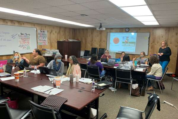 Willis Independent School District educators on Tuesday, August 5 2020 as they prepare to offer online instruction with blended learning modules when school begins next week during the novel coronavirus pandemic.