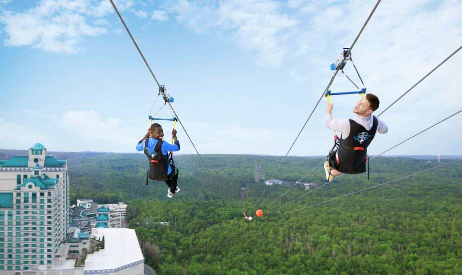 Foxwoods HighFlyer zipline is a thrill in Mashantucket. Photo: Foxwoods / Contribued Photo