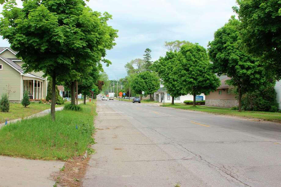 The City of Frankfort will be working with the Michigan Department of Transportation to replace a section of M-22 from Bellows Street to Lake Street, which includes replacing aging water infrastructure. (Photo/Colin Merry)