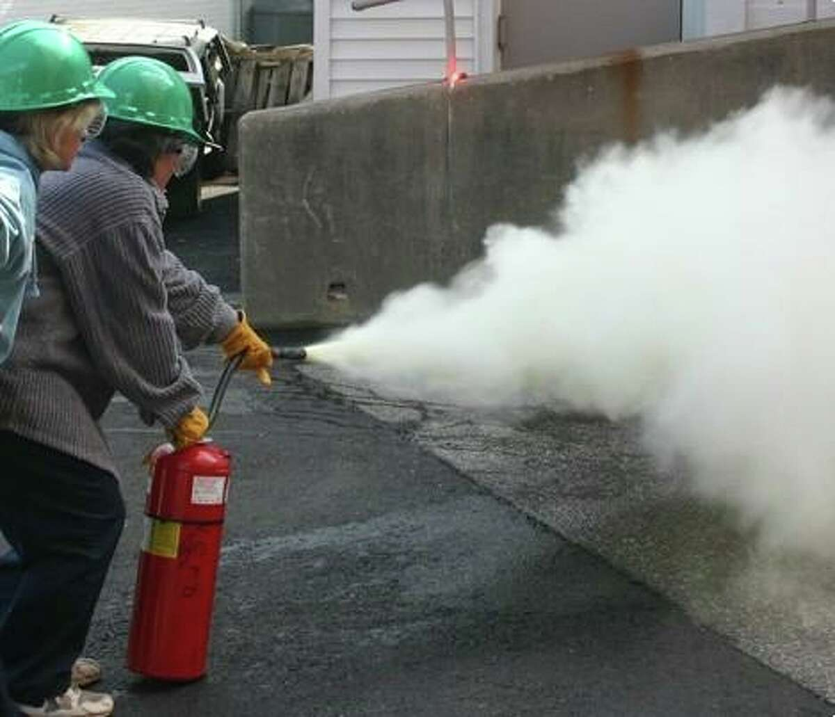 How to handle a fire extinguisher is one of the tools that participants in the New Canaan Community Emergency Response Team's. (CERT), training course will learn. A transformer fire on Main Street in New Canaan is closing part of the street at Main and Elm streets, and South Avenue, and Elm Street, late Wednesday, August 5, 2020. Elm is also closed from Main to South.