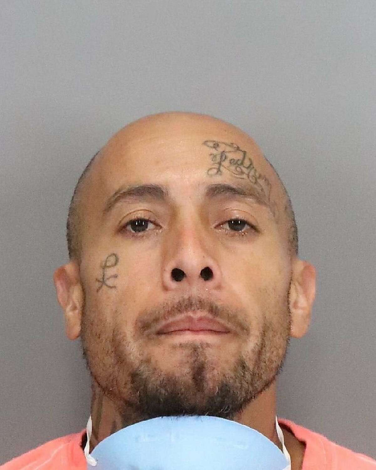 Joseph Castro, 40, allegedly held law enforcement officers at bay for four hours after seizing an officer's gun and shooting in the Santa Clara County Jail parking garage