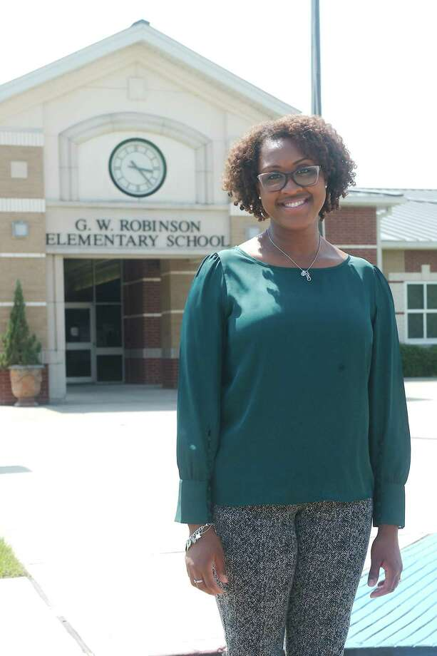 """Robinson Elementary School's new principal, Travisha Hewitt, is advising staff members and parents to """"remain positive and flexible"""" during the coming school year. """"Remembering and modeling our core values will be crucial,"""" she says. Photo: Kirk Sides / Staff Photographer / © 2020 Houston Chronicle/Kirk Sides"""