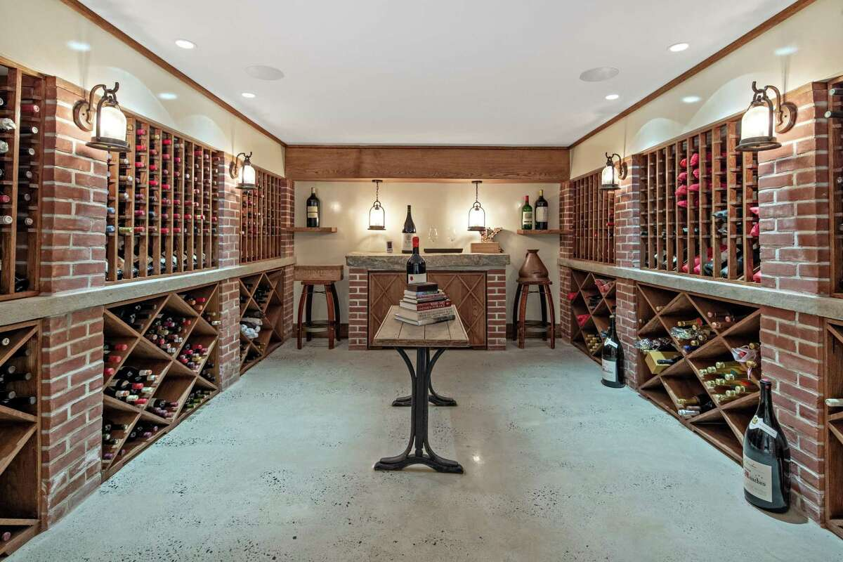 The wine cellar can accommodate about 1,200 bottles.