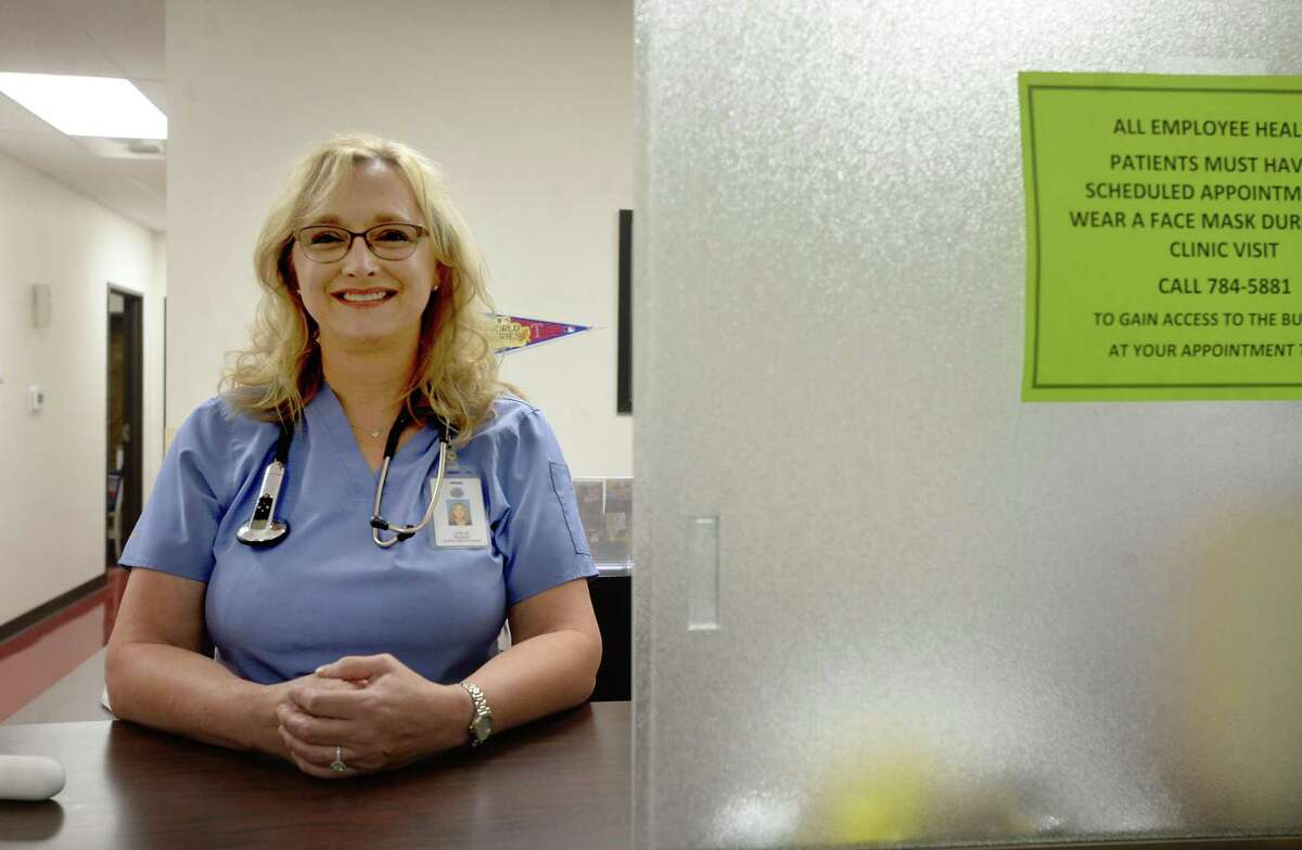 Nurse Practitioner Leslie Little - Riggs with the Jefferson County Employee Health Clinic was a source of comfort for one local man amid the loss of his wife to COVID-19. She remained by her side in her final moments, as he and other family were not allowed to be with her. Photo taken Monday, June 22, 2020 Kim Brent/The Enterprise
