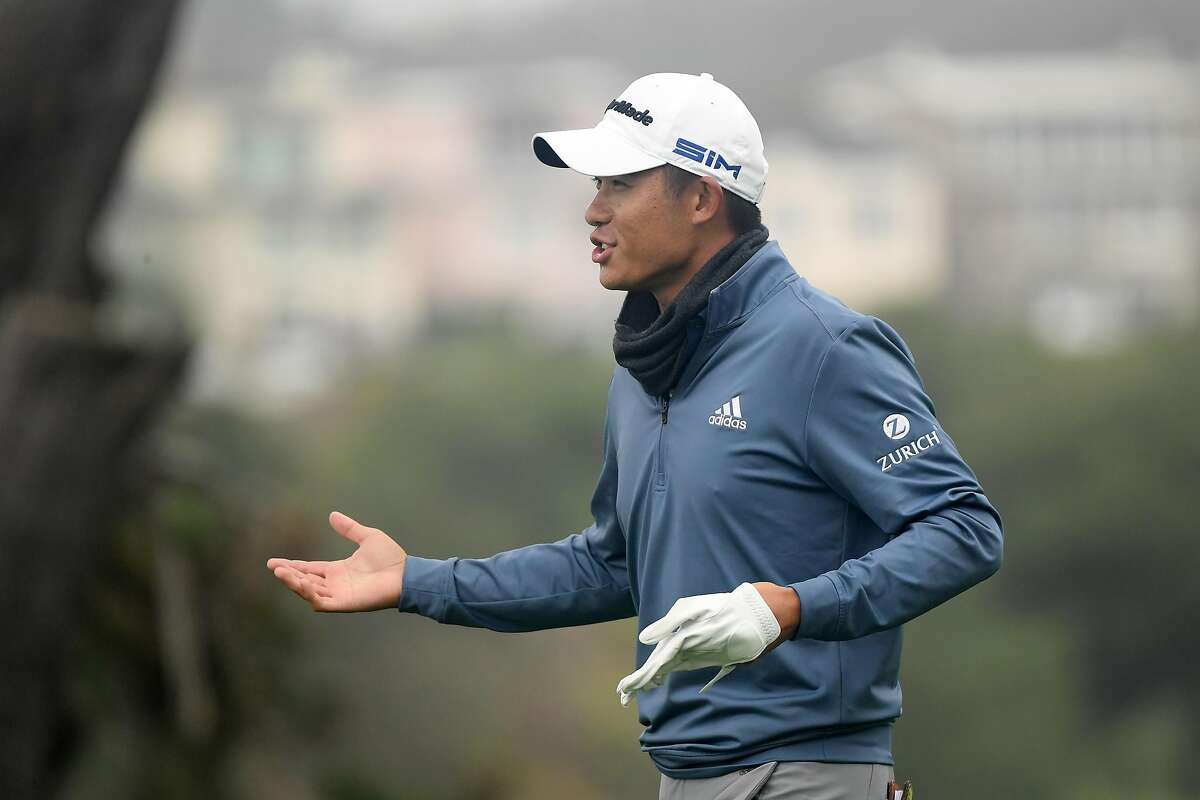 SAN FRANCISCO, CALIFORNIA - AUGUST 05: Collin Morikawa of the United States laughs as he walks off the tenth tee during a practice round prior to the 2020 PGA Championship at TPC Harding Park on August 05, 2020 in San Francisco, California. (Photo by Harry How/Getty Images)