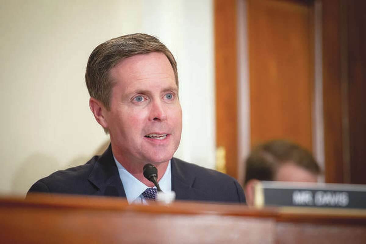 Congressman Rodney Davis speaks during a House Administration Committee hearing in Washington, D.C., in September. Caroline Brehman   CQ-Roll Call