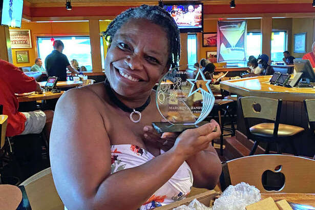 Belleville speech pathologist Margery Handy with her crystal award recocknizing her as Best Actress in a Comedic Role in the Arts for Life Best Performance Awards. Handy will be part of several Alton Little Theater productions during the upcoming season.