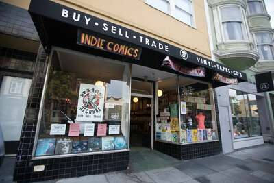 Silver Sprocket comics is moving into the store being vacated by 1-2-3-4 Go! Records on Valencia Street in San Francisco, California on Aug. 5, 2020.