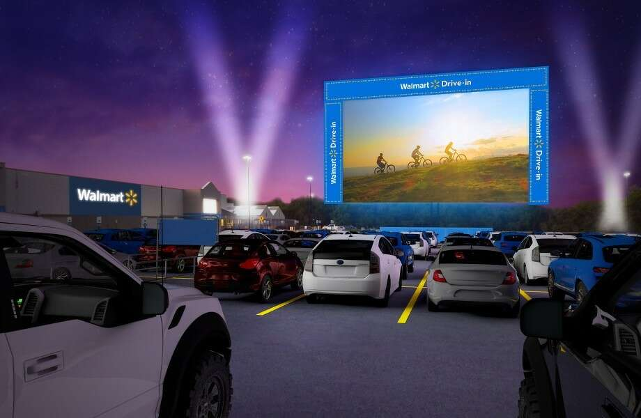 Walmart reveals its first-ever drive-in theater tour to kick off Aug. 14 through Oct. 21 with movies being shown at store locations across the country including Houston. Photo: Courtesy: Walmart