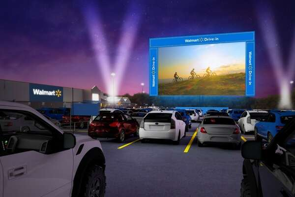 Walmart reveals its first-ever drive-in theater tour to kick off Aug. 14 through Oct. 21 with movies being show at store locations across the country including Houston.
