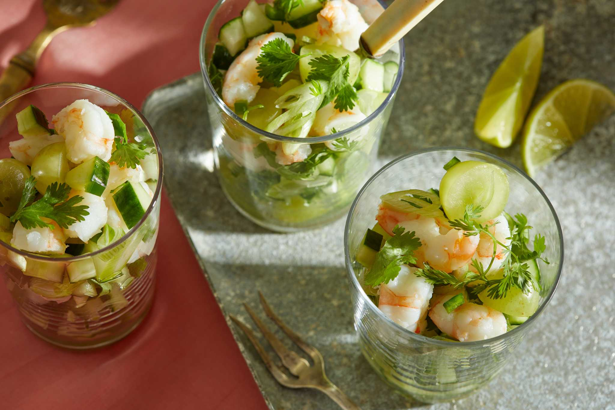 Half ceviche, half shrimp cocktail, this cool, bright dish is thoroughly refreshing