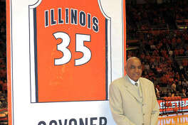 Nearly half a century after he made his mark in basketball at Illinois, former Edwardsville High School star Govoner Vaughn returned to Champaign in 2008 to see a banner with his name and number raised to the rafters at the State Farm Center.