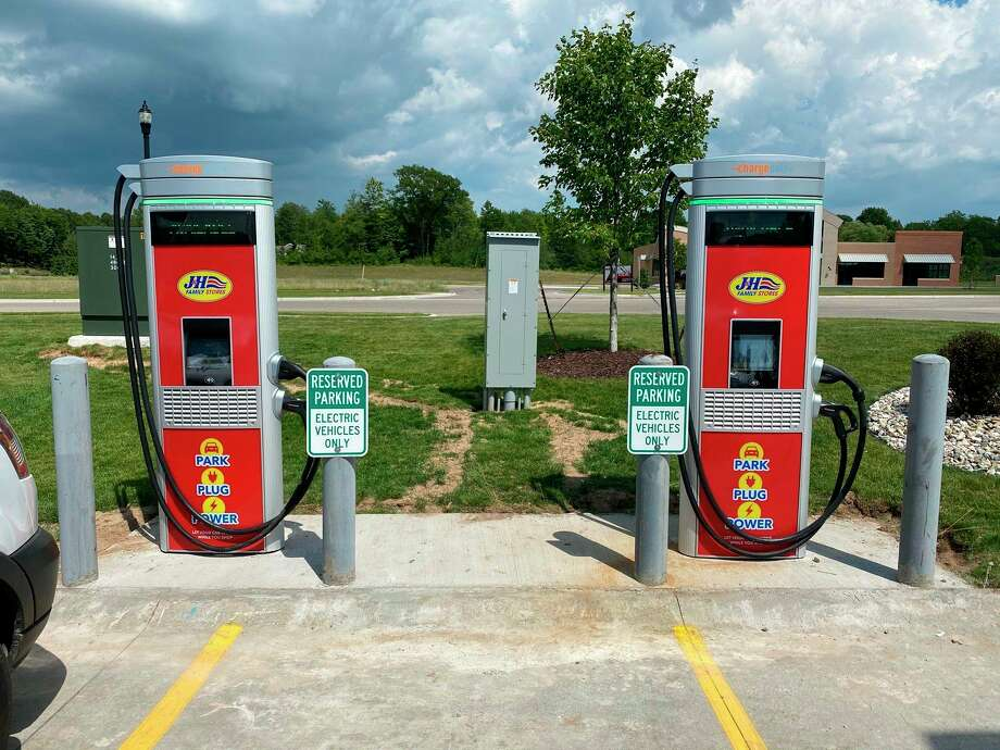 The city of Big Rapids was one of 24 recipients to receive grant funding for electric vehicle chargers. The city will receive four chargers at a grant total of nearly $95,000. (Photo courtesy of Consumers Energy)