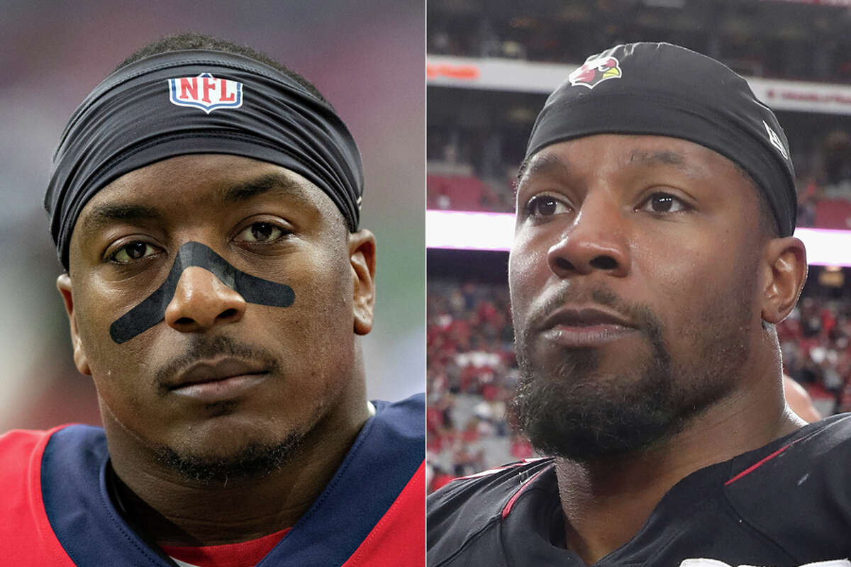 Duke Johnson (left) and new backfield mate David Johnson give the Texans a pair of prolific pass-catching running backs.