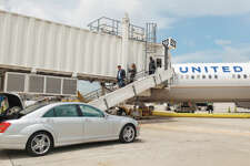 A chauffeur-driven Mercedes will take Global Services members from plane to plane during a tight connection.