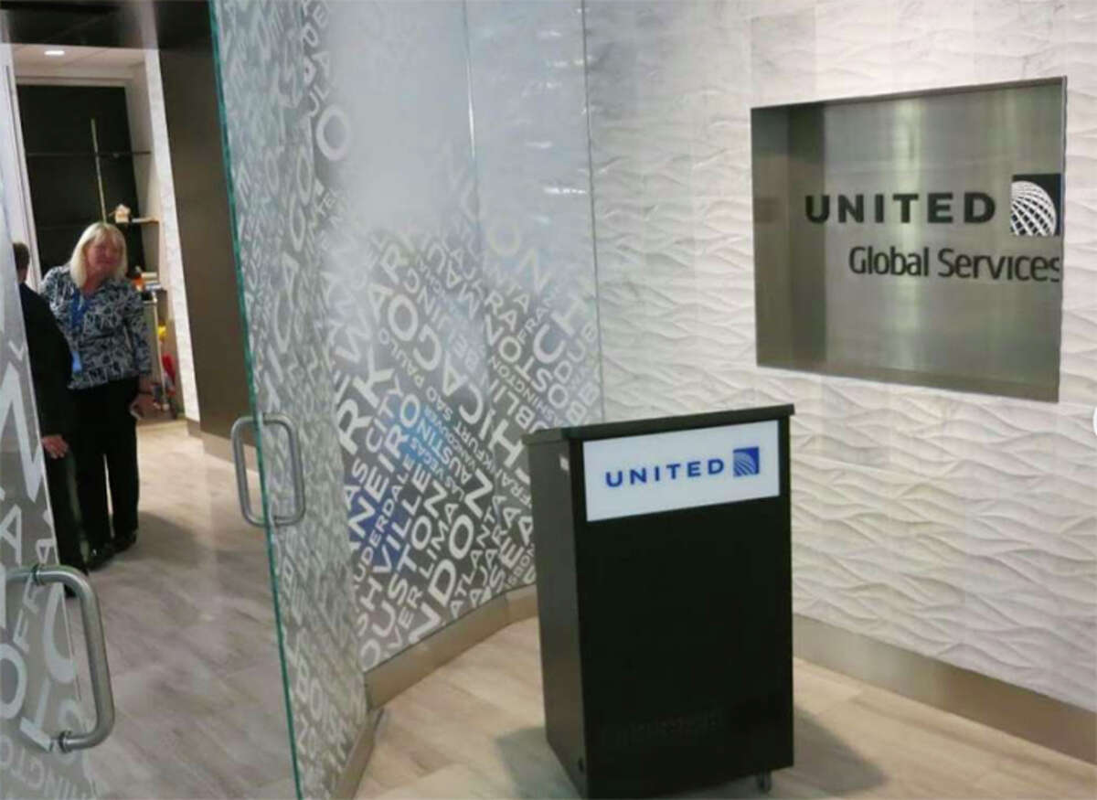 Private check-in areas are a big perk for United's Global Services members.