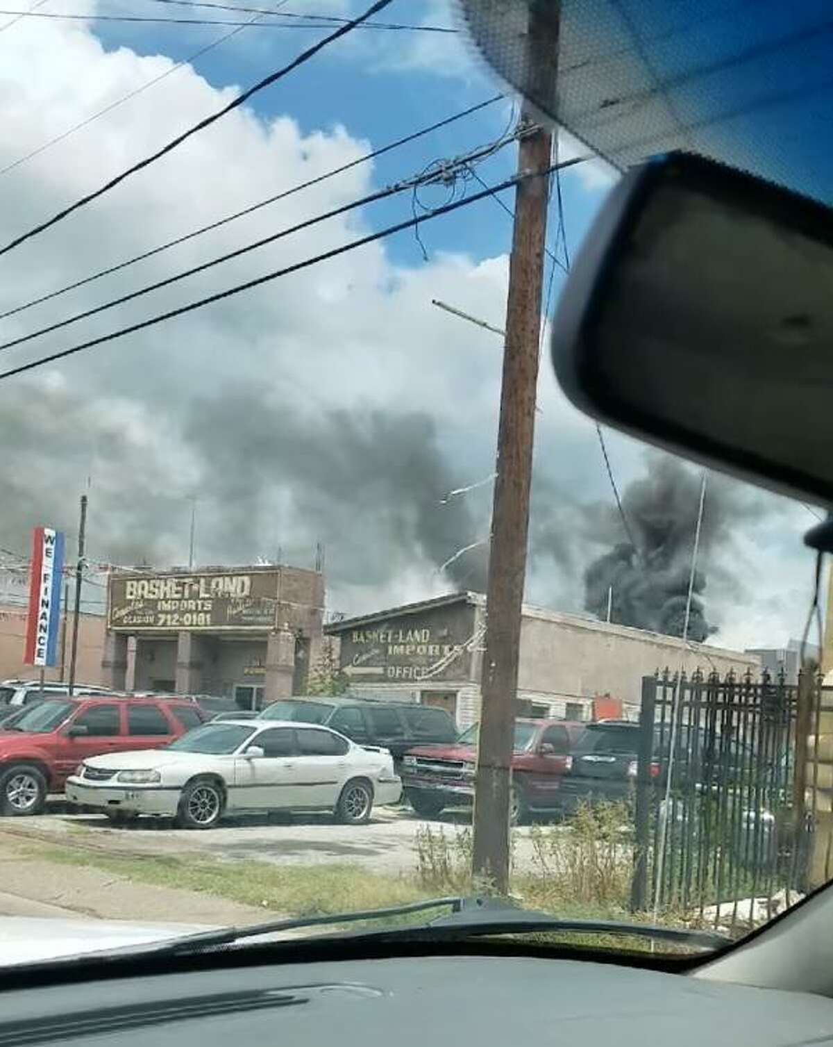 Smoke rises above South Texas Mortuary and Cremation Services in a video posted to Facebook by Chris Benavides IV.