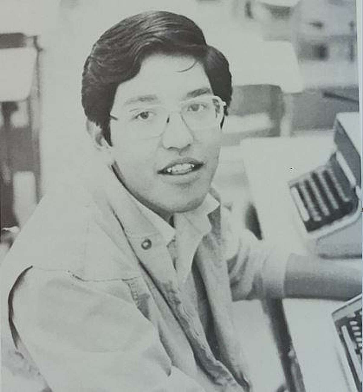 Houston Chronicle food editor Greg Morago attended Boys State in 1977 when he was a student at Casa Grande Union High School in Casa Grande, Ariz. He is shown here in his high school newspaper office.