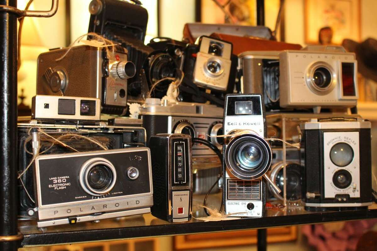 Mimi's Vintage and Decor12307 Jones Rd. Houston TX 77070832-873-5555 There's nothing better than walking into an antique shop like Mimi's and coming across rare and vintage items like cameras to add to a photo connoisseurs collection. The ones you see in this photo are from John Wayne's cameraman, according to Mimi's Vintage and Decor's Yelp site. Photo: Yelp/Mimi's Vintage and Decor