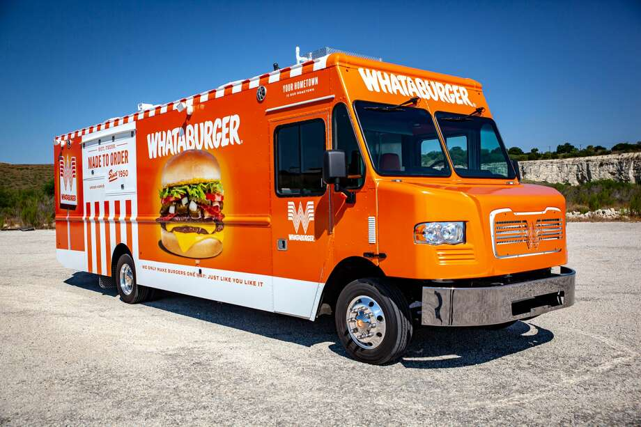 Whataburger has finally revealed their new food truck, bringing it's famous orange and white wrapped burgers around the country. Photo: Courtesy- Cruising Kitchens