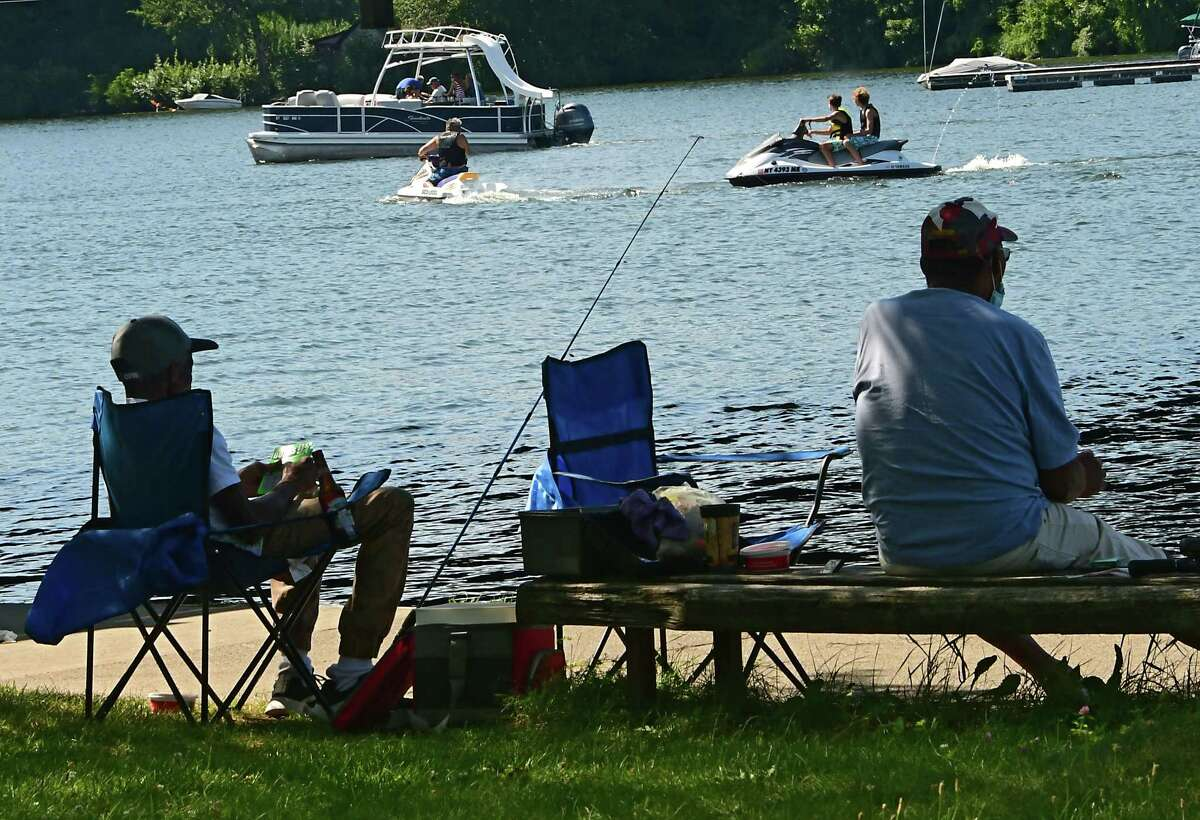 Fishermen, boaters and jet skiers enjoy the nice weather on Saratoga Lake on Thursday, Aug. 6, 2020 in Saratoga Springs, N.Y. (Lori Van Buren/Times Union)
