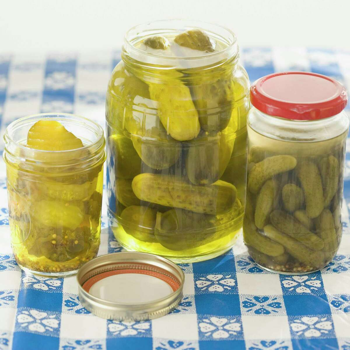 Old pickle juice can be reused to make a fresh batch of pickles or to brine meat.