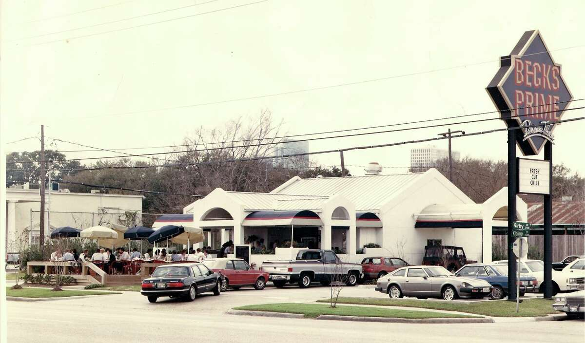 Becks Prime is shown in 1985 at 2902 Kirby Drive.