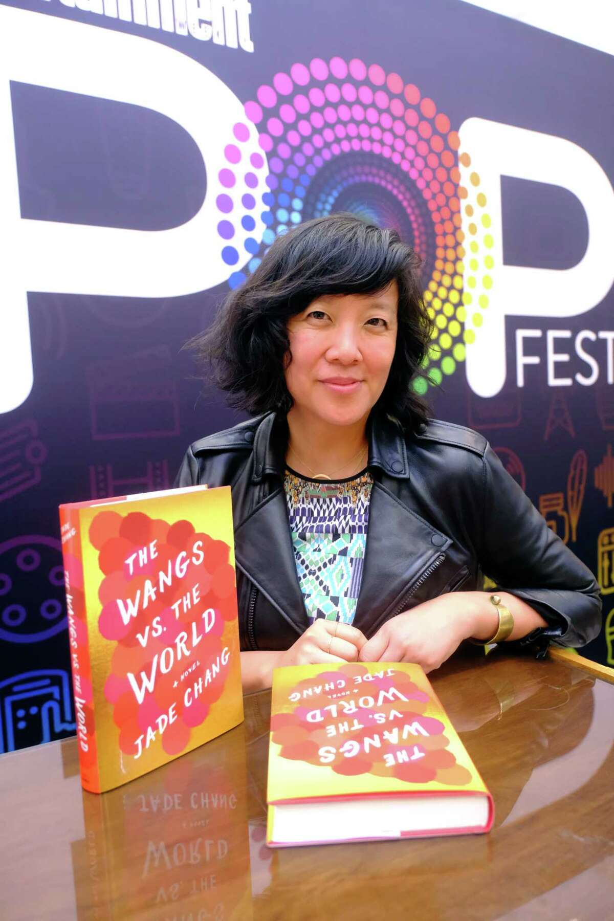 LOS ANGELES, CA - OCTOBER 30: Author Jade Chang signs books at Entertainment Weekly's PopFest at The Reef on October 30, 2016 in Los Angeles, California. (Photo by Frazer Harrison/Getty Images for Entertainment Weekly)