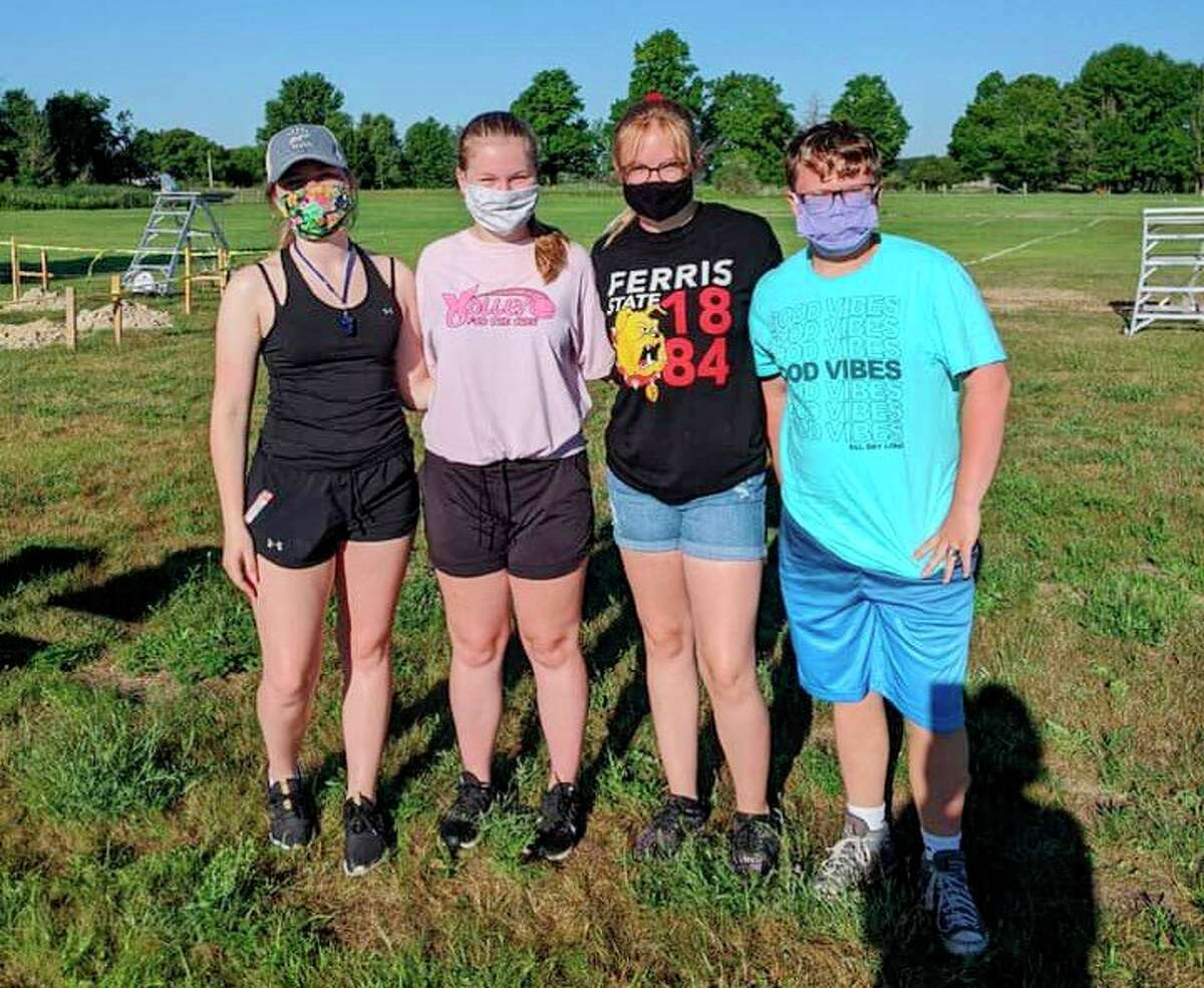 Morley Stanwood Community Schools had its band camp last week. With many restrictions caused by the coronavirus pandemic, students were required to stay six feet apart while practicing and to wear masks while not playing their instruments. (Courtesy photos)