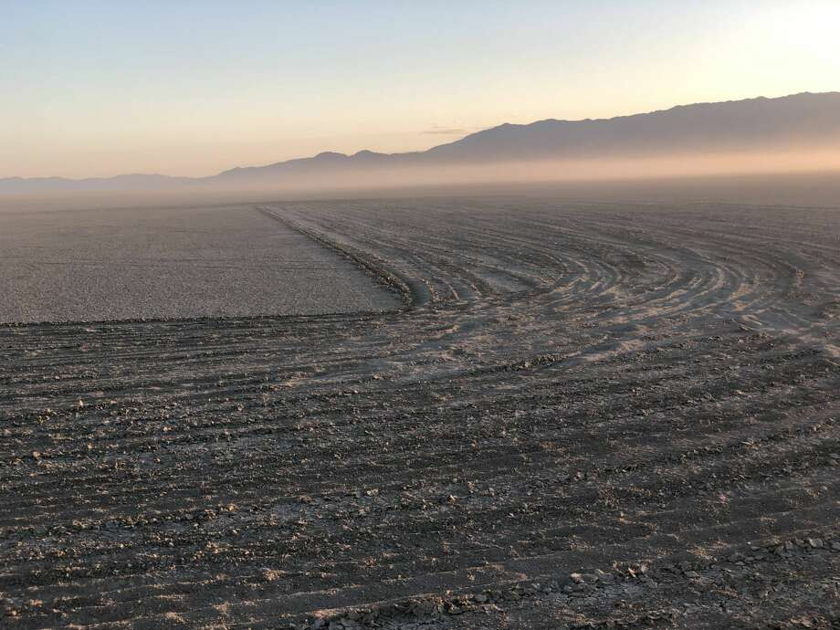 A four mile wide Black Lives Matter public art piece was recently discovered in the Black Rock Desert, the site of the yearly Burning Man festival. Photo: Courtesy Of Esteban Valle