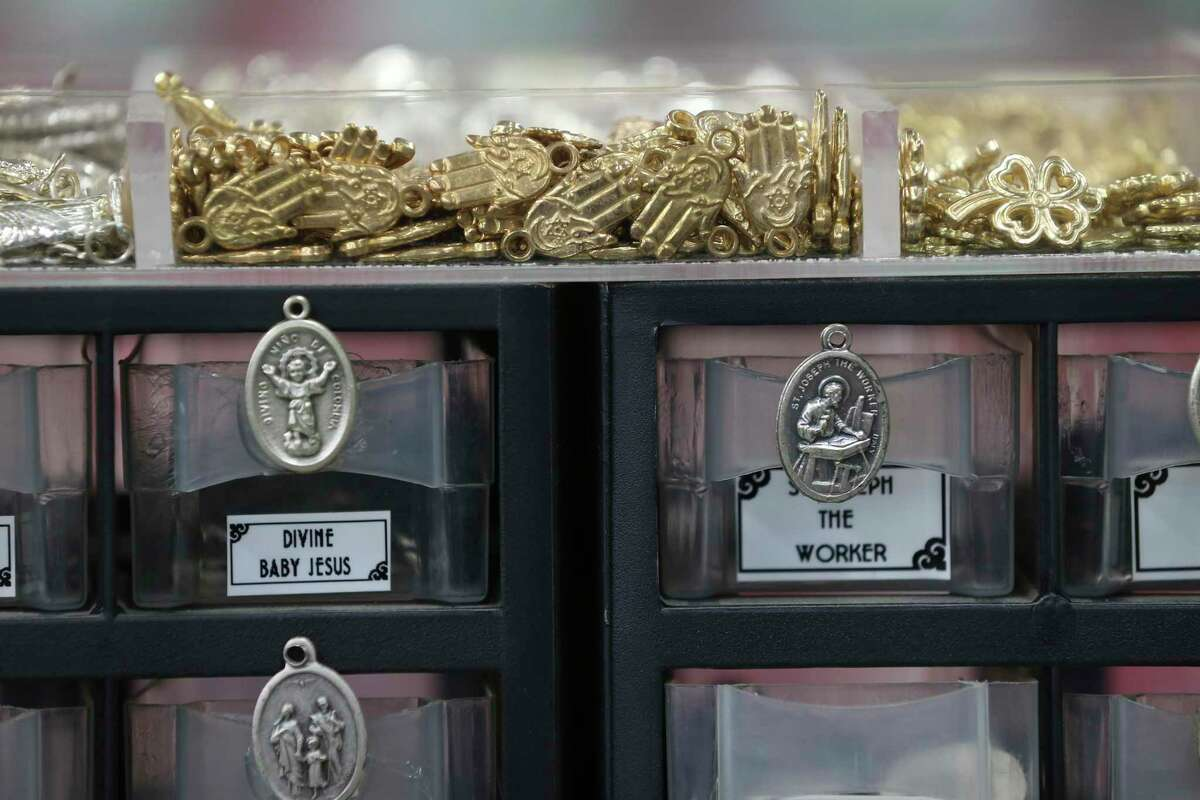 Different types of amulets are available at Papa Jim's.
