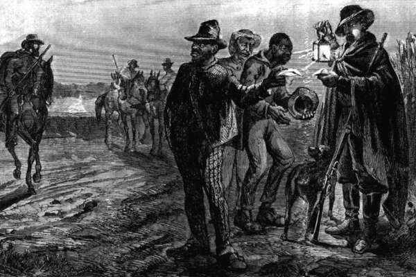 """1704: Start of slave patrols in South Carolina In an effort to mandate their power over African slaves, government leaders in Charleston, South Carolina, created the first slave patrol, birthing law enforcement as we know it. Not shy to commit acts of terror or violence, the """"patrollers,"""" as these slave patrols were called, took on the responsibilities of chasing down slaves on horseback and returning them to slavery, embedding racism into the system. [Pictured: Depiction of a slave patrol.]"""